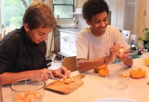 Peeling Tangerines